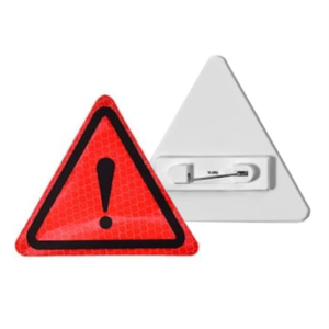 значки светоотражающие на пластиковой основе